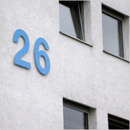 Das zählt: Riesige 3-D Hausnummer