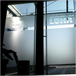 Sichtschutz und Hinweis: Löhr Gerüstbau