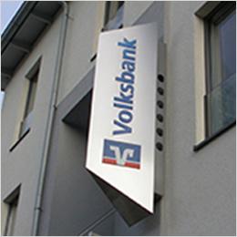 Wegweisend: Volksbank