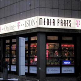 Erleuchtung: Aussenwerbung für Media Parts